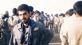 زیارت عاشورا حاج قاسم سلیمانی در مراسم شهید الله دادی