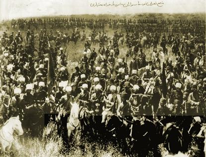 عکس/ فتح تهران توسط سواران مشروطه خواه بختیاری