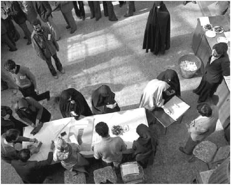 تصویری از نخستین انتخابات نمایندگی پس از انقلاب