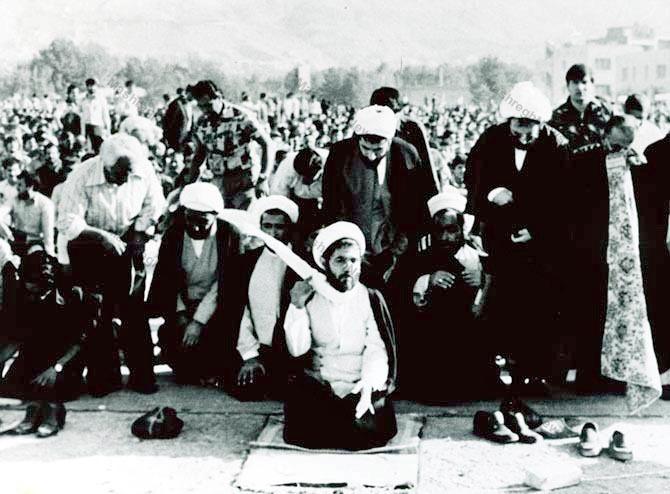 عکس/ نماز عید فطر سال 57