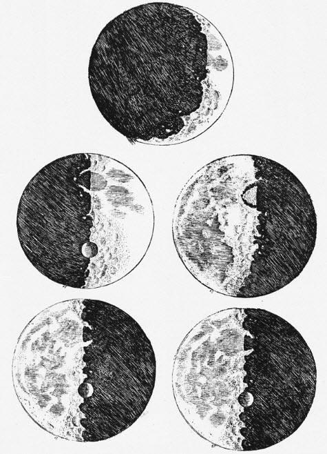 نقاشی های گالیله از سطح ماه