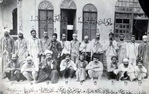 عکس/زندانیان باغ شاه سال 1287