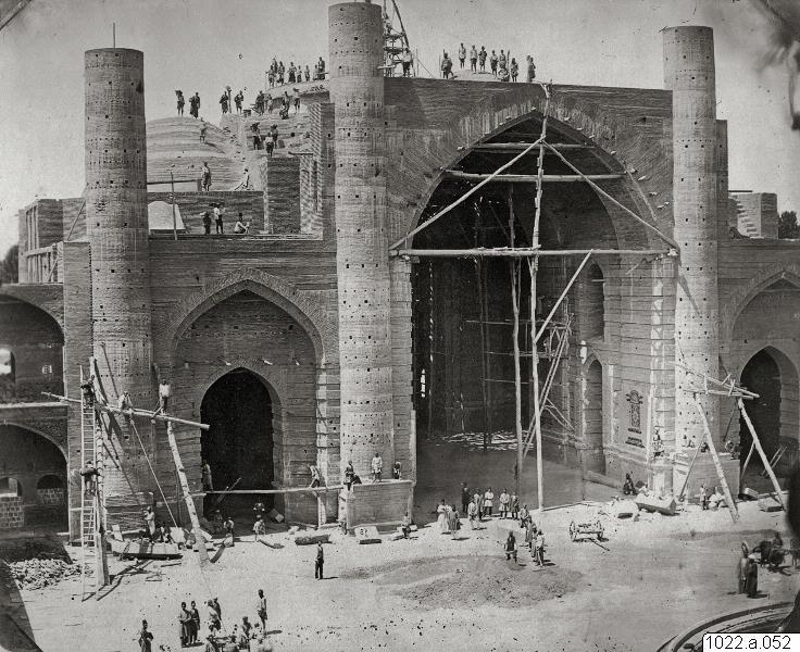 عکس/ساخت مدرسه سپهسالار در قدیم