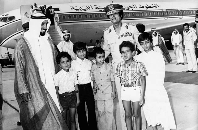 عکس/فرزندان قذافی و شیخ زاید