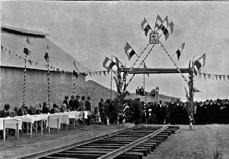 عکس/افتتاح اولین راه آهن ایران