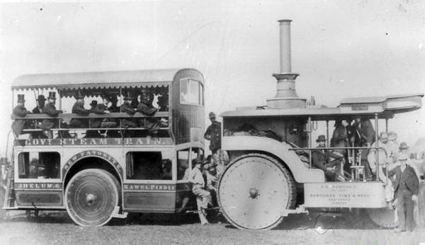 عکس/اتوبوس بخاری در قدیم