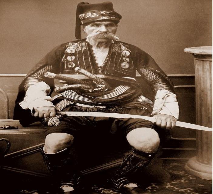 پوشش یک سرباز عثمانی در سال 1860