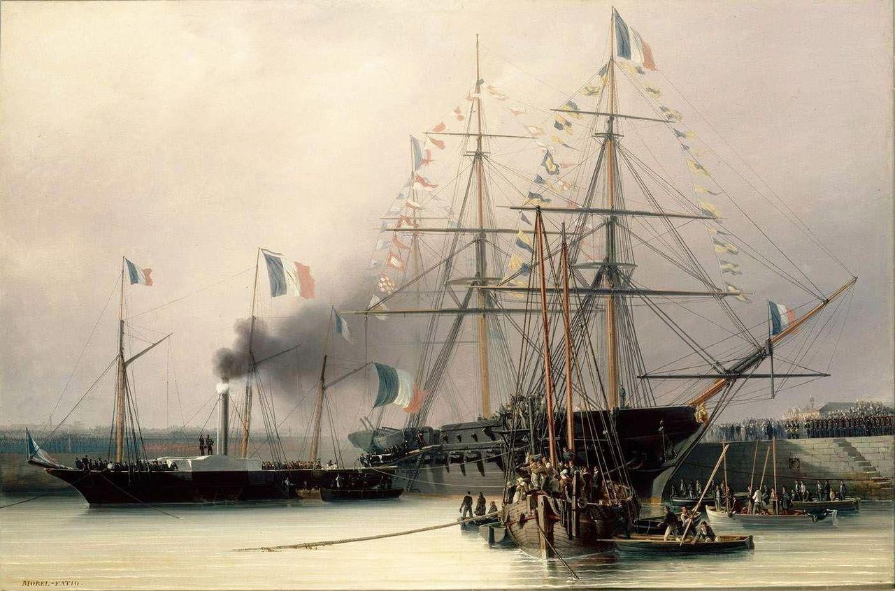 کشتی که جسد ناپلئون را حمل می کرد