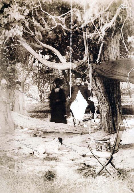 عکس/صدر اعظم قجری در حال تفریح