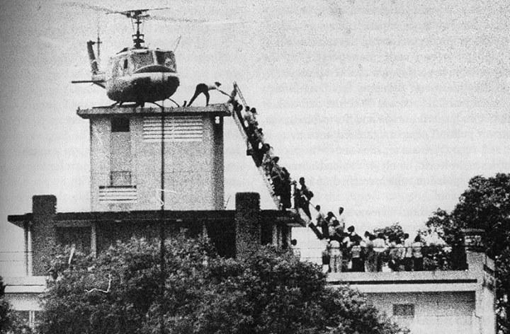 نیروهای آمریکایی اینگونه از جنگ ویتنام فراری شدند/ عکس