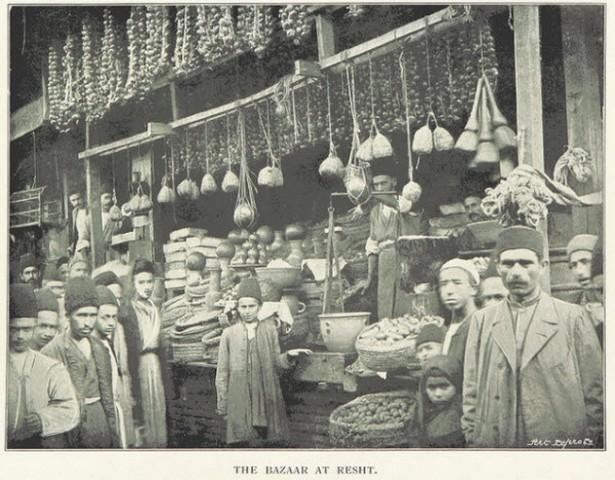عکس تاریخی از بازار رشت