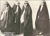 چهره و پوشاک زنان دوره قاجار (چادر و پیچه)