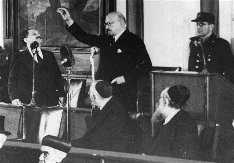 اولین رئیس رژیم صهیونیستی/عکس