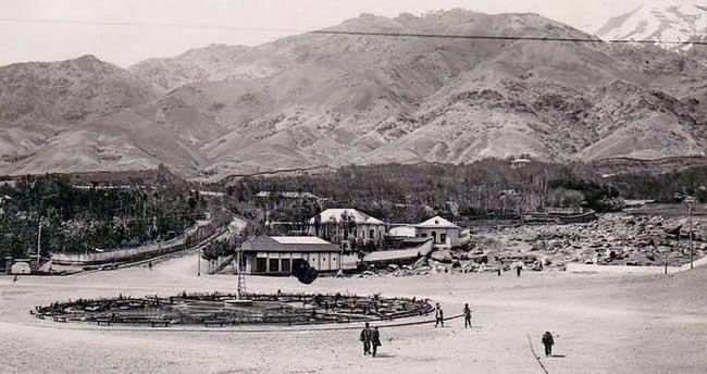 عکس قدیمی از میدان تجریش