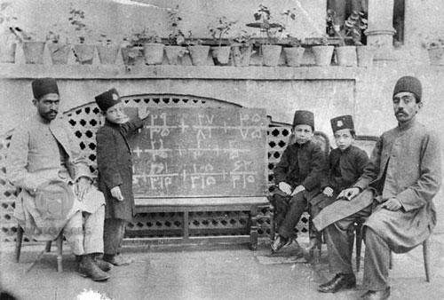عکس/ کلاس ریاضی در دوره قاجار