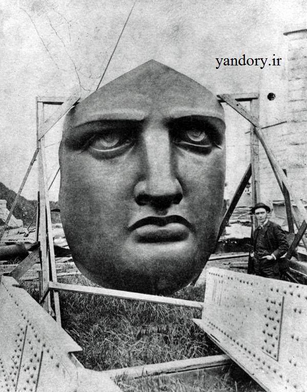 سر مجسمه آزادی قبل از نصب/عکس