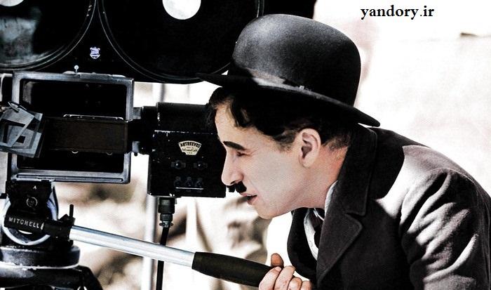 چارلی چاپلین سر صحنه فیلمبرداری. سال 1935