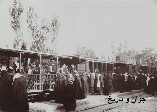 قطار ویژه بانوان در دوره قاجار/عکس