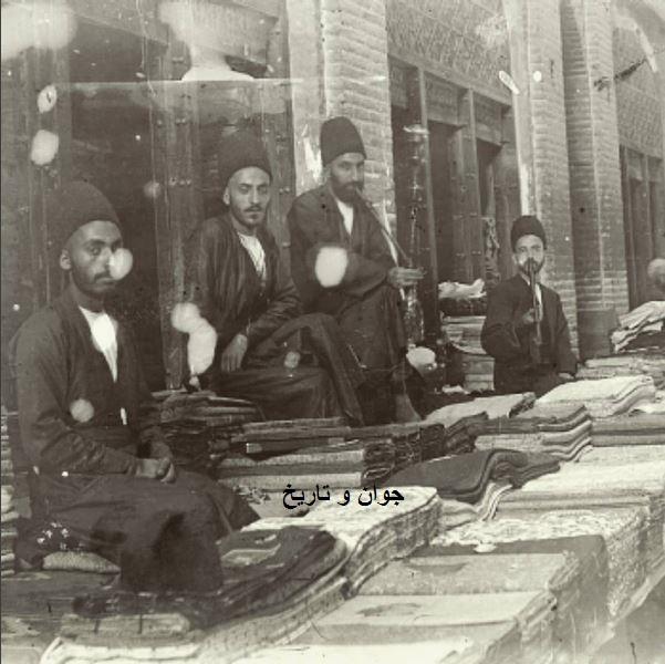 پارچه فروشان قاجاری/عکس
