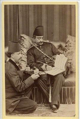 تصاویری از ناصرالدین شاه در آتلیه های اروپا