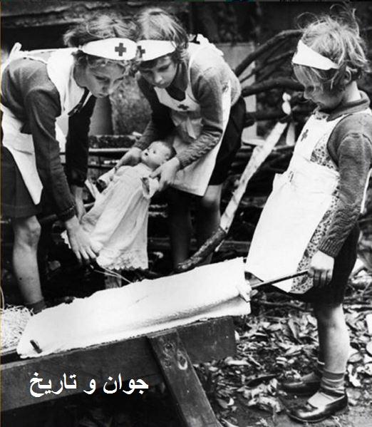 بازی کودکان در زمان جنگ/عکس