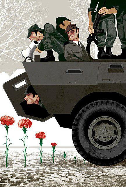 جنگ و صلح به روایت یک کاریکاتور