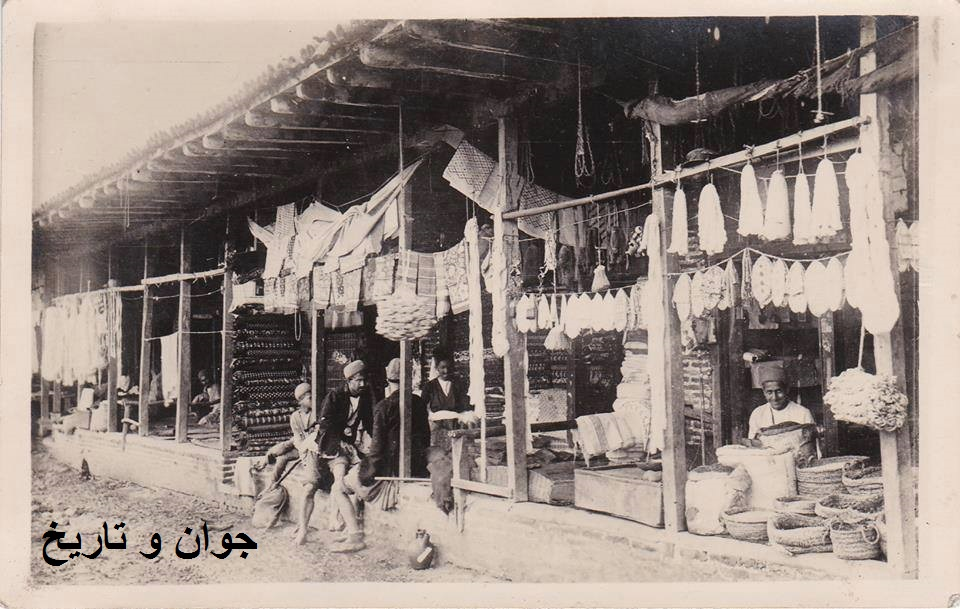 بازار رشت در زمان قاجار/عکس