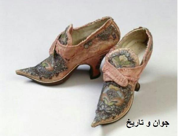 عکس/کفش زنانه سال 1720