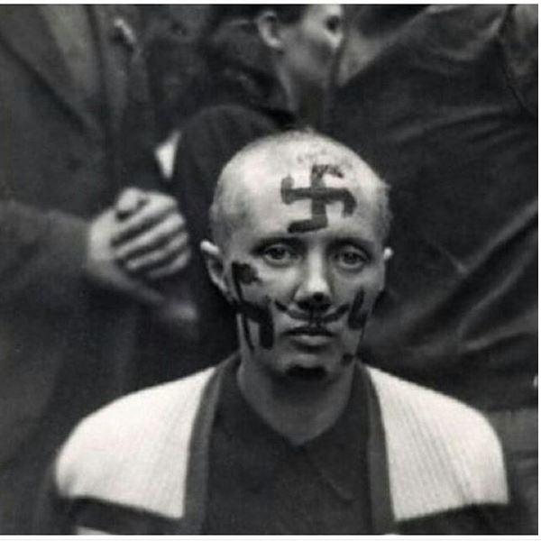 نمایش زن طرفدار نازی در فرانسه