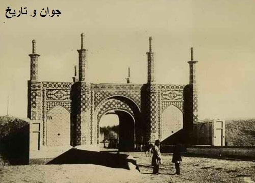 عکس قدیمی از دروازه خراسان