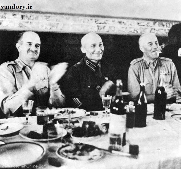 ضیافت شام فرماندهان  متفقین در ایران
