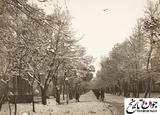 خیابان دولت در یک روز برفی/عکس