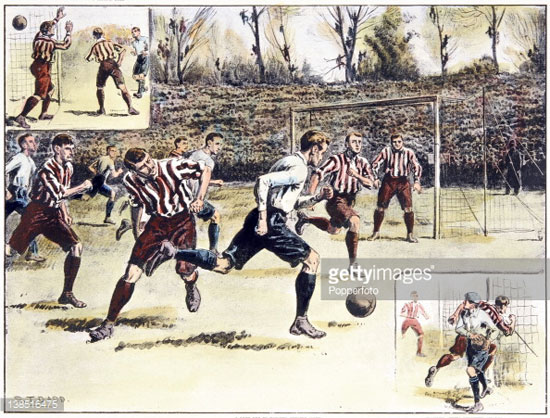 برگزاری اولین مسابقه فوتبال در جهان