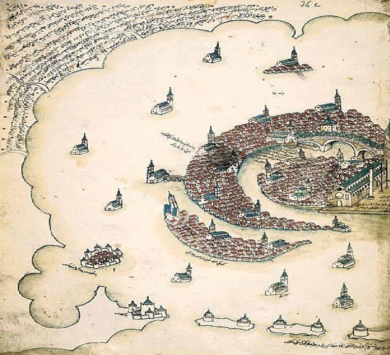 نقشه هوایی ونیز در قرن 16 میلادی + عکس