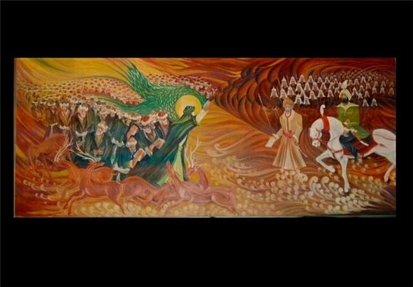 نقاشی ۷ متری زیبا درباره امام رضا (ع) +تصاویر
