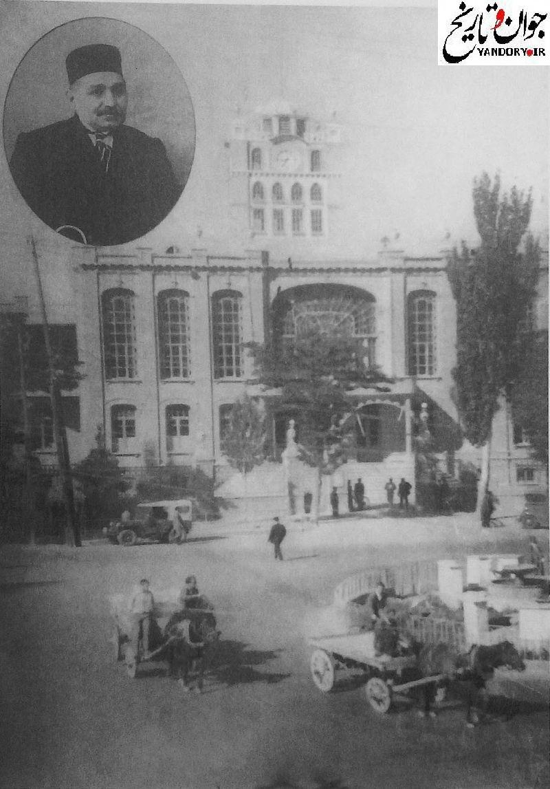 عکس قدیمی از میدان ساعت تبریز