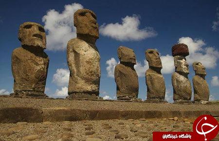 مجسمه های اسرارآمیز در شیلی + عکس