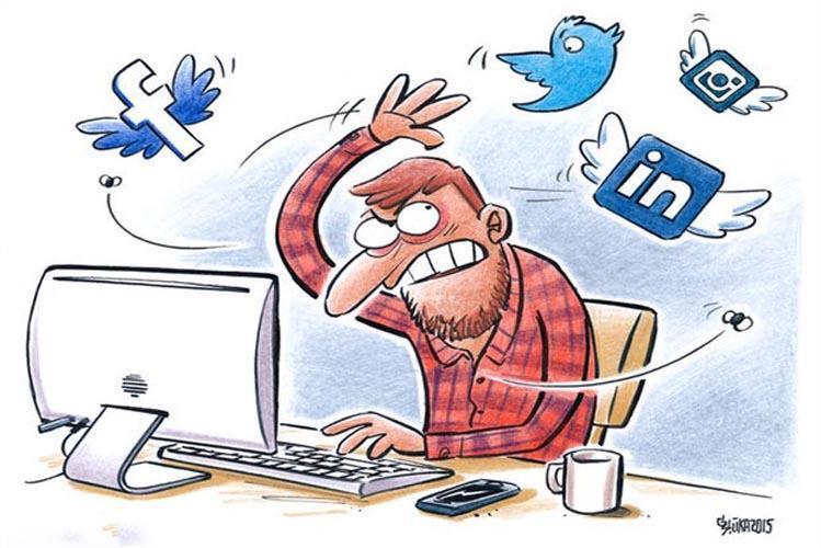 اتلاف وقت در شبکه های اجتماعی