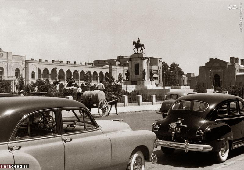 عکس/ میدان توپخانه ۶۶ سال قبل