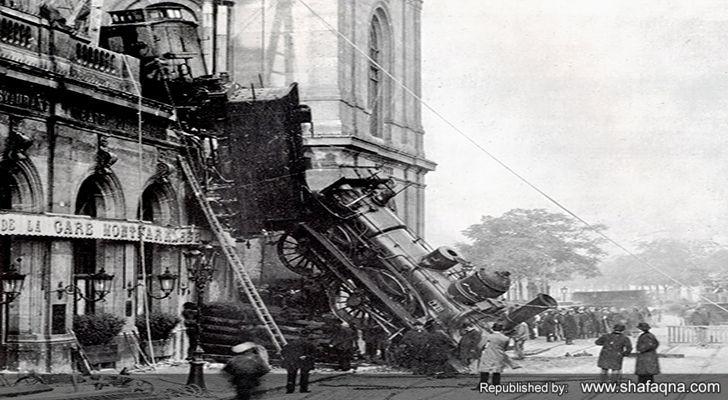 سقوط ترن در پاریس/عکس