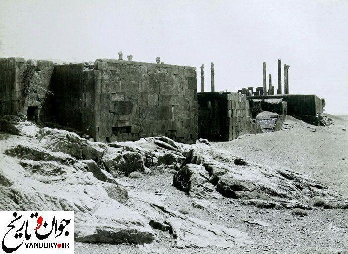 تخت جمشید در دوره قاجار/عکس