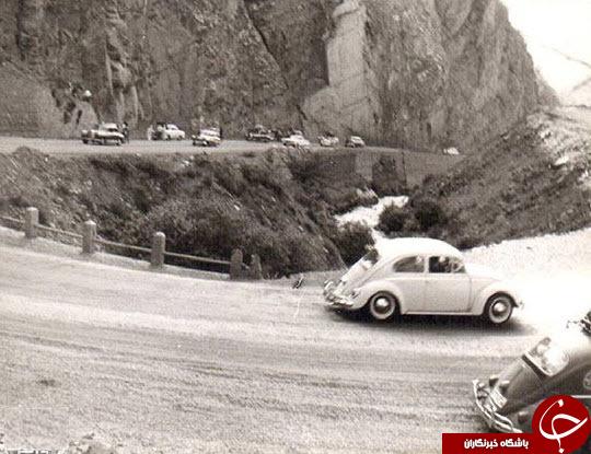 زمانی که جاده چالوس خاکی بود/عکس