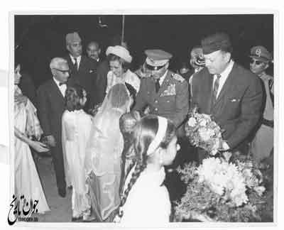استقبال از محمد رضا و فرح پهلوی در پاکستان/ عکس