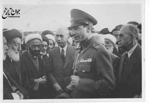 ملاقات روحانیون درباری با محمدرضا پهلوی/عکس