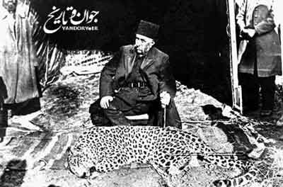 ناصرالدین شاه و شکار پلنگ