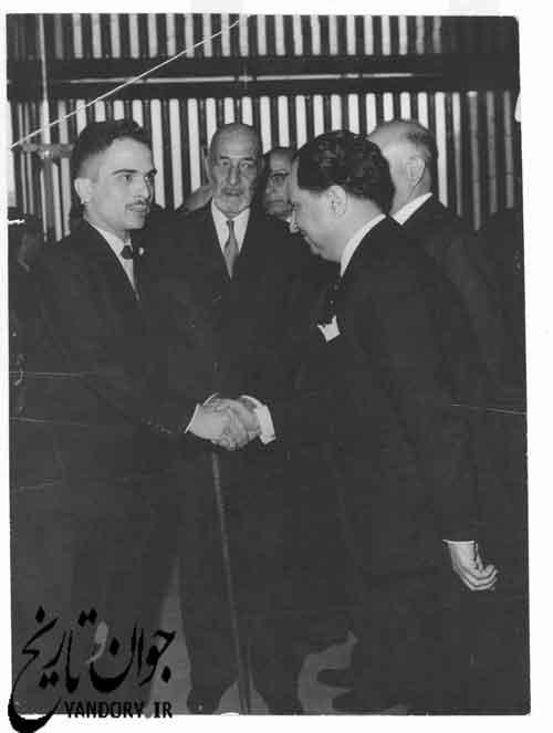 شاه اردن در مجلس سنای ایران
