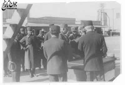 رضاشاه پهلوی در بازدید از پروژه عمرانی