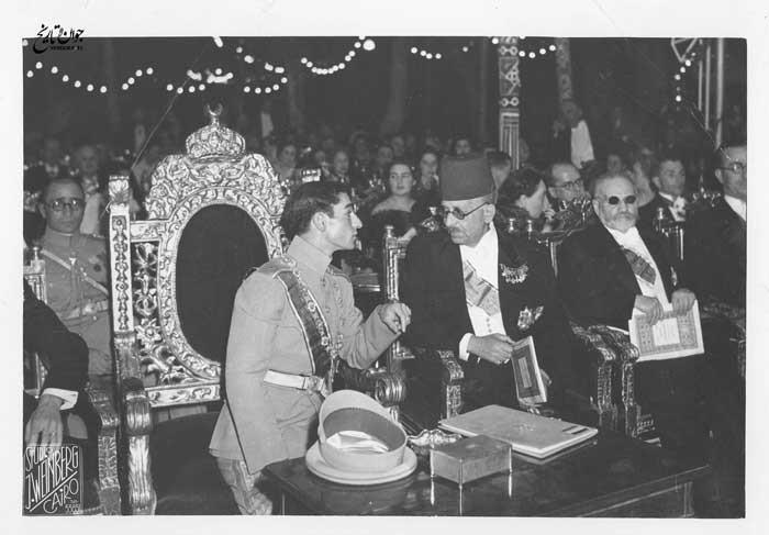 مراسم عقد ازدواج محمدرضا پهلوی و فوزیه در مصر
