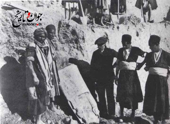 کشف منشور حمورابی در شوش(سال 1901 میلادی)+عکس
