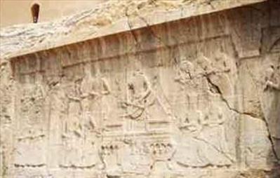 تصویر فتحعلی شاه و پسران بر روی حجاریهای ساسانی